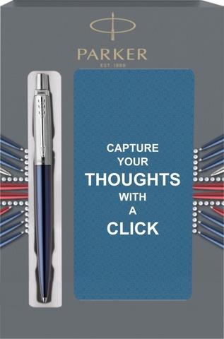 Подарочный набор с блокнотом и Шариковая ручка Parker Jotter Essential, Royal Blue CT123