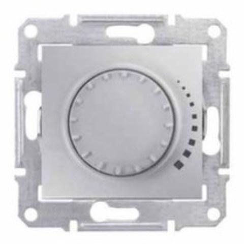 Светорегулятор/Диммер поворотно-нажимной 40-1000 Вт/Ва индуктивный. Цвет алюминий. Schneider Electric Sedna. SDN2200960