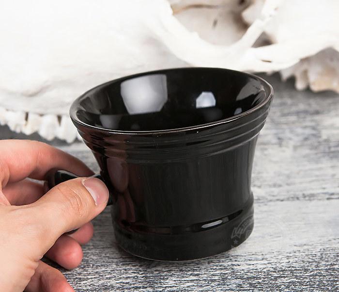 RAZ315 Большая керамическая чаша для бритья с рукояткой фото 06