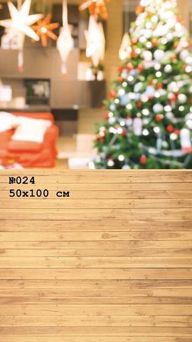Фотофон виниловый стена-пол «Новогодняя елка» №024