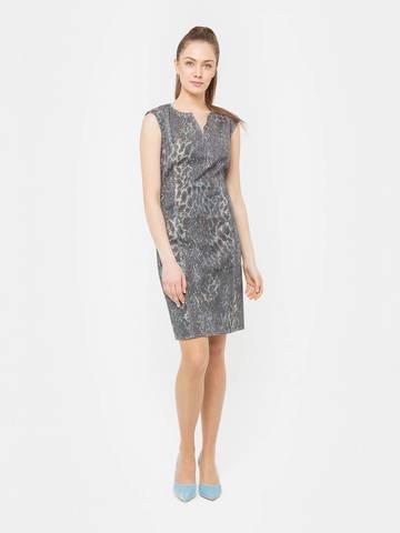 Фото праздничное платье-футляр приталенного силуэта с вырезом - Платье З170-374 (1)