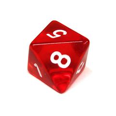 Куб D8 прозрачный: Красный