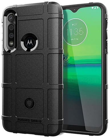Чехол Motorola Moto G8 Play (One Macro) цвет Black (черный), серия Armor, Caseport
