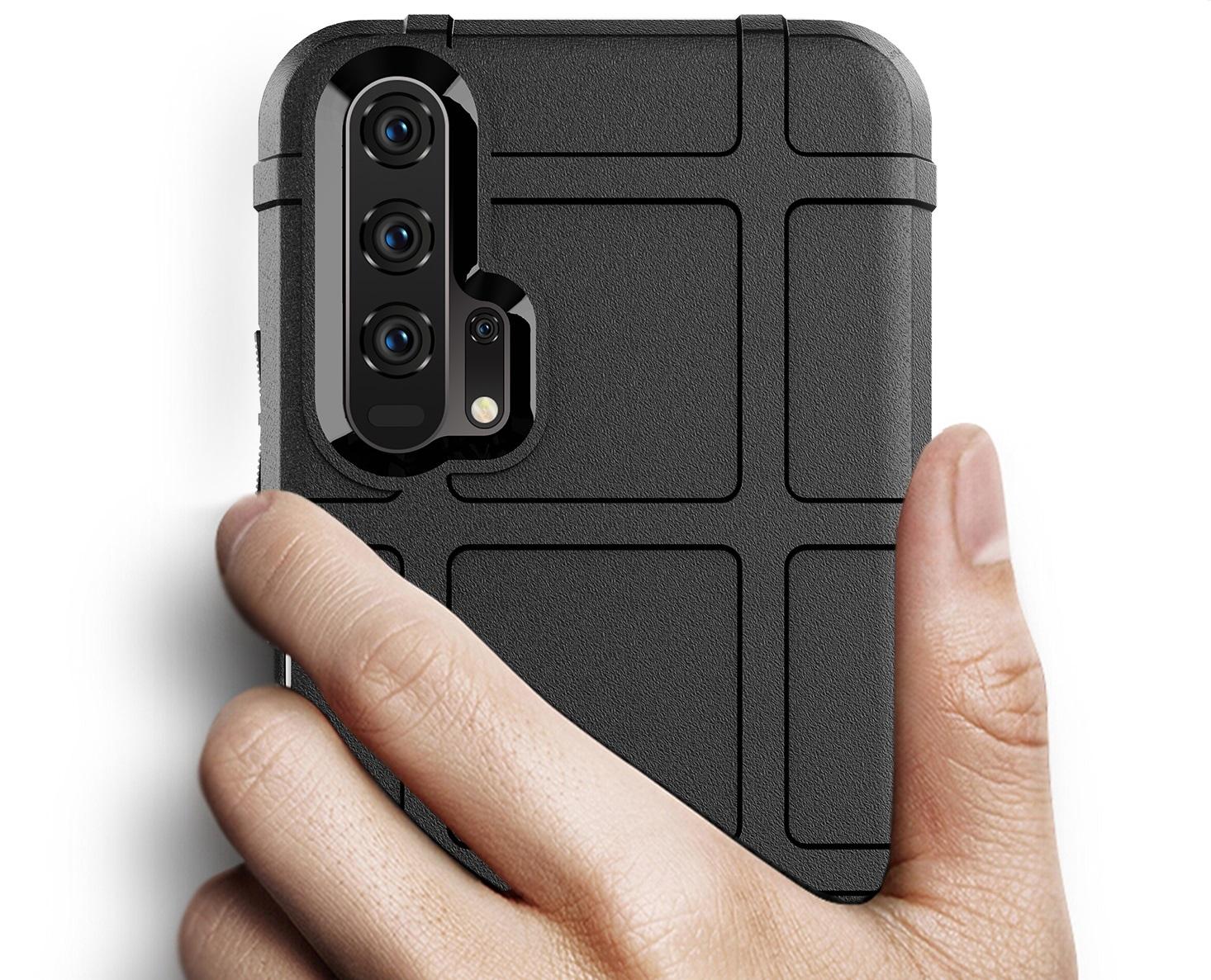 Чехол для Honor 20 (Honor 20S, 20 Pro, Huawei Nova 5T) цвет Black (черный), серия Armor от Caseport