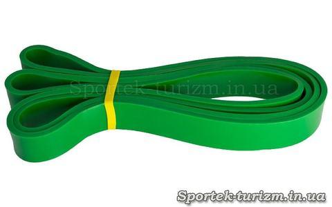 Резина для подтягиваний (силовая лента) POWER BANDS зеленая, FI-0889-3, размер 2080x29x4,5мм, сопротивление 16-39 кг