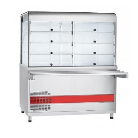 Прилавок-витрина холодильный ПВВ(Н)-70КМ-С-01-НШ  (1500x705x1721)