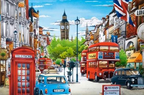 Алмазная Мозаика 40x50 Яркий Лондон (арт. MGL8075 )