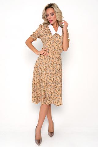 """<p>Летнее платье с цветами - лучшая идея на сезон 2021! А ещё если оно из штапеля - вообще прелесть!!! Талия на резинке. Юбка """"полусолнце"""".</p>"""