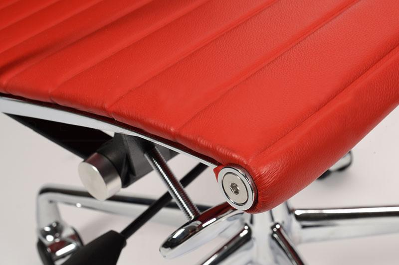 Кресло Eames Style Ribbed Office Chair EA 117 красная кожа - вид 6