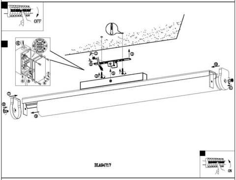 Светильник настенно-потолочный влагозащищенный Eglo CALNOVA 94717 3