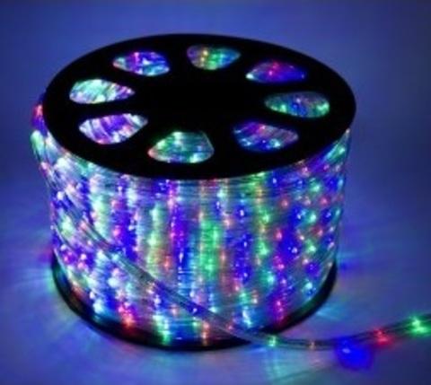 Дюралайт светодиодный, двухпроводной, круглый 11 мм, RGB, 36 LED/м, кратность резки 2 метра