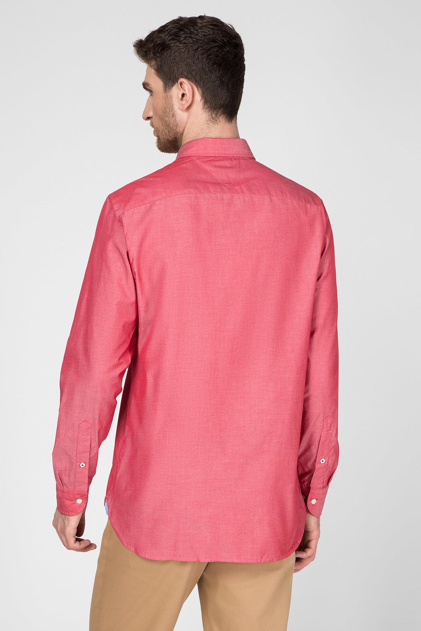 Мужская красная рубашка NATURAL SOFT POPLIN Tommy Hilfiger