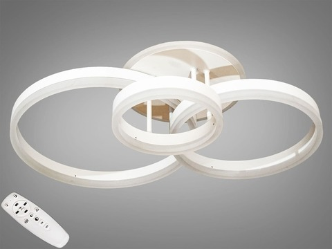 Потолочная Светодиодная LED люстра с пультом, диммером и подсветкой, 90W