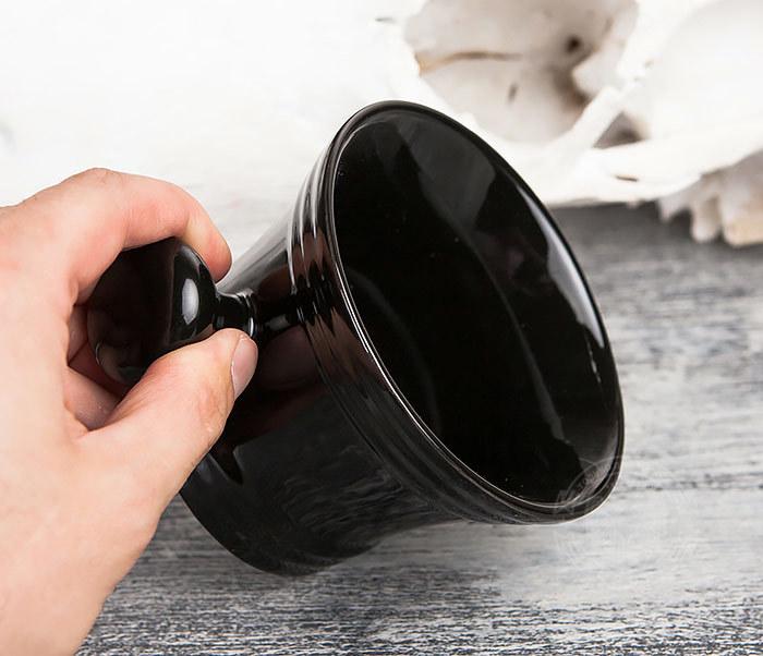 RAZ315 Большая керамическая чаша для бритья с рукояткой фото 07