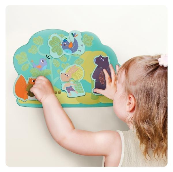 Vertiplay Игрушка на стену- Магнитные паззлы Кролик Хоппи и его друзья
