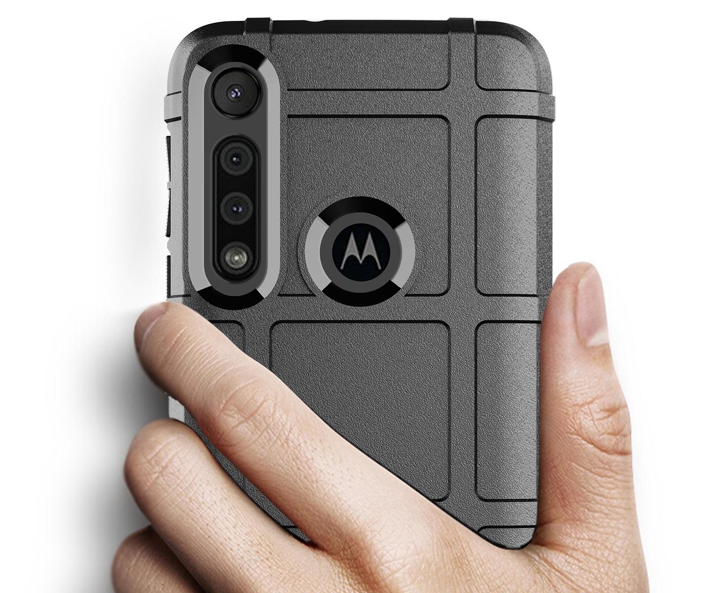 Чехол для Motorola Moto G8 Play (One Macro) цвет Black (черный), серия Armor от Caseport