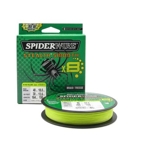 Плетеная леска Spiderwire Stealth Smooth 8 Braid Ярко-желтая 150м 0,19мм 18,0кг