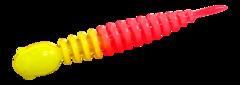 Силиконовые приманки Trout Bait Chub 65 (65 мм, цвет: Лимонно-красный, запах: чеснок, банка 12 шт.)