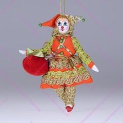 Ёлочная игрушка Гном с яблоком