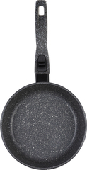 Сковорода глубокая 22 см МРАМОР а/п, съемная ручка, без крышки (10) DECO-DARIIS HUR-A-108 DMВ