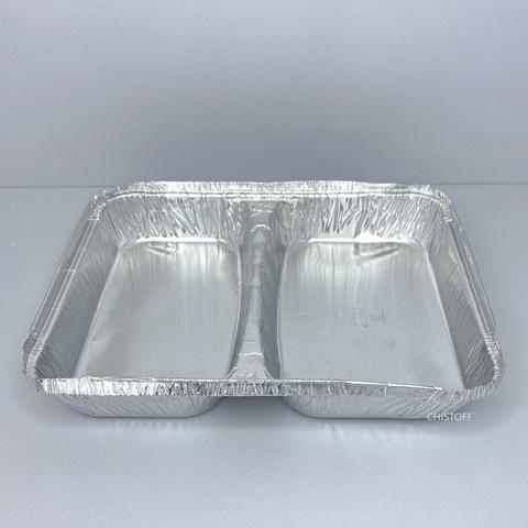 Двухсекционный контейнер из пищевой алюминиевой фольги SPM2L