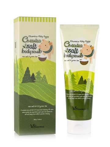 Скраб для тела с экстрактом зеленого чая Elizavecca Green tea salt Body scrub, 300 гр