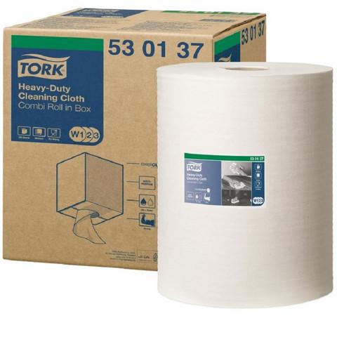 Нетканый протирочный материал Tork 530137 W1/W2/W3 белый (106.4 метра в рулоне)