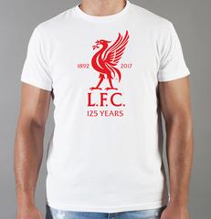 Футболка с принтом FC Liverpool (ФК Ливерпуль) белая 006