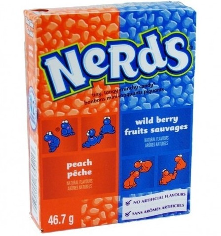 Nerds Peach and Wild Berry персик и лесные ягоды 46,7 гр