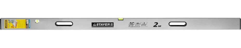 Правило-уровень с ручками GRAND, 2 м, STAYER Professional 10752-2.0
