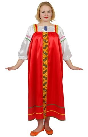 Русский народный сарафан красный
