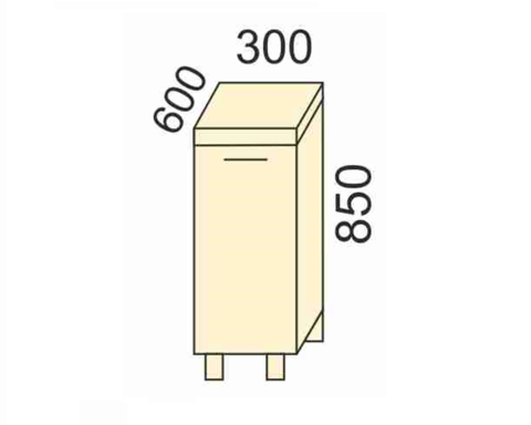 СОФЬЯ, СВЕТЛАНА, ПРЕМЬЕР, ПОЛИНАСтол (столешица в комплекте)300 (для комплекта)