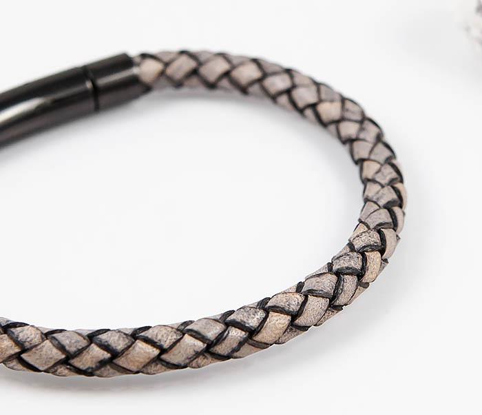 BM517-3 Мужской браслет шнур из натуральной кожи фото 04