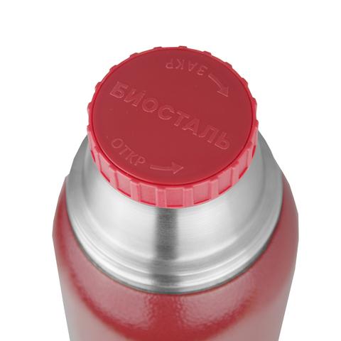 Термос Biostal Охота (1,2 литра), 2 чашки, красный
