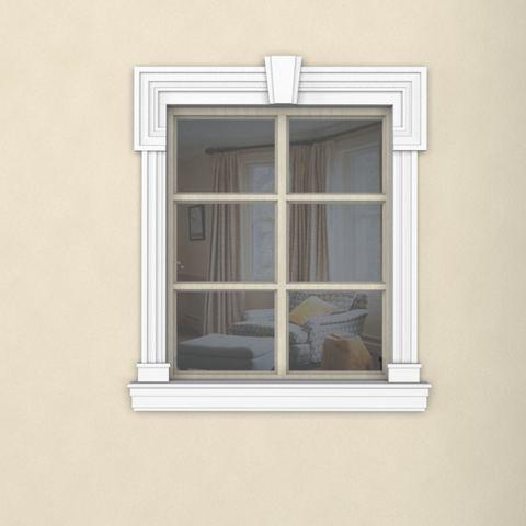 Окно из пенопласта наличник  подоконник комплект.