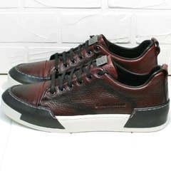 Демисезонные кеды кроссовки для повседневной носки мужские Luciano Bellini C6401 MC Bordo.