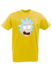 Футболка с принтом мультфильма Рик и Морти (Rick and Morty) желтая 002