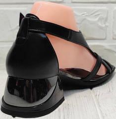 Женские кожаные сандали босоножки женские с закрытой пяткой Evromoda 166606 Black Leather.
