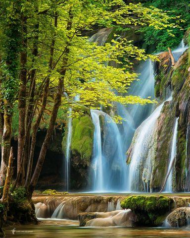 Картина раскраска по номерам 40x50 Водопад в горах