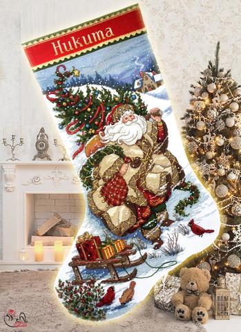 Набор для вышивания Путешествие Деда Мороза. Арт. 4016