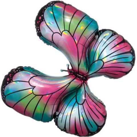 Фигура фольга Голографическая бабочка