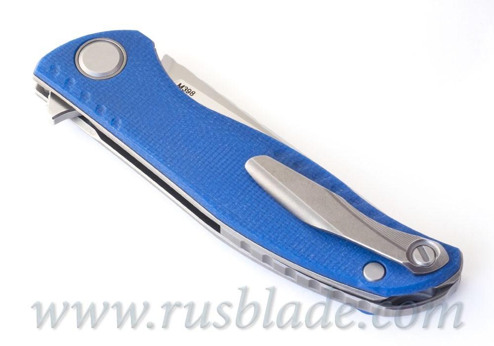 Shirogorov F3 NS M398 Blue Micarta - фотография