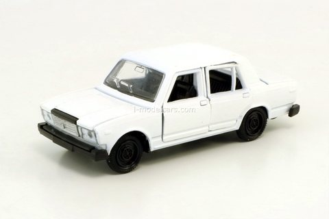 VAZ-2107 Lada with opening elements white Agat Mossar Tantal 1:43