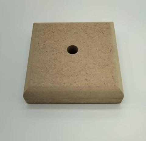 Деревянная основа квадратная для цветов и светильников Ф1, 130*130*35мм, МДФ