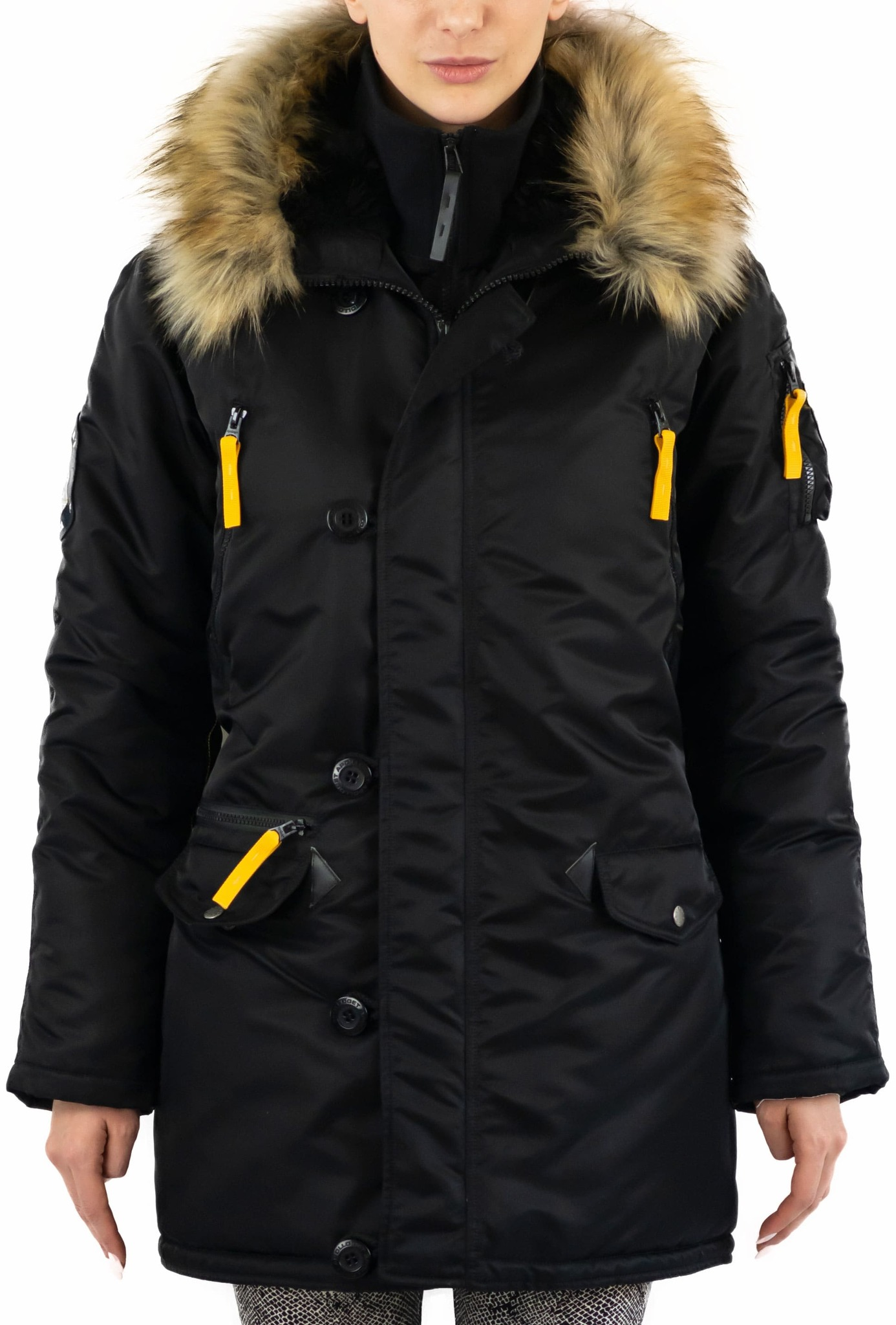 Куртка Аляска Женская - Apolloget Alaska Wmn (черная - black/yellow)