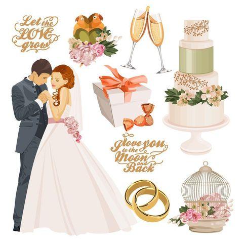 Печать на вафельной бумаге, Набор Свадьба 2
