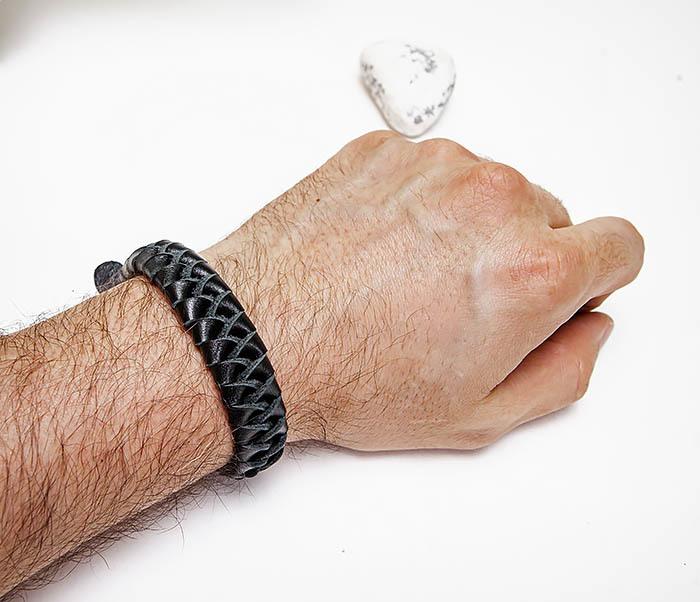 BL807-1 Плетеный браслет ручной работы из натуральной кожи фото 08