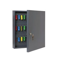 Шкаф для ключей Onix К-40 темно-серый (на 40 ключей, металл)