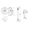 Гигиеническим набор с смесителем Grohe BauClassic 124901 схема