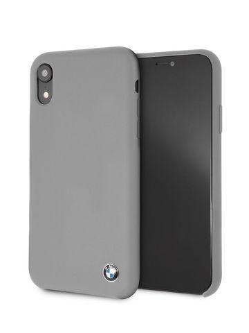 BMW / чехол для телефона iPhone XR | Signature Liquid silicone Hard TPU Gray